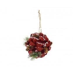 Sfera Shabby Rosso 15 cm.