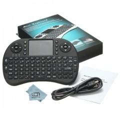 QWERTY Mini Tastiera Integrata Wireless 2.4G Nero per Android TV Box PC