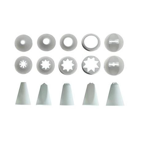 Set 10 cornetti per decorare dolci in plastica misure assortite Vespa