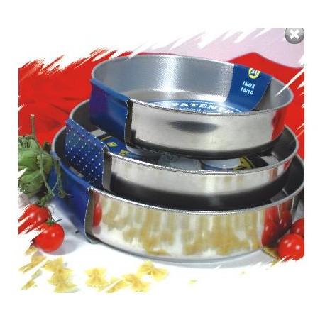 Tortiera cm.30 in Acciaio Inox Antiaderente