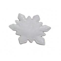 Piattino Fiocco di Neve bianco in ceramica