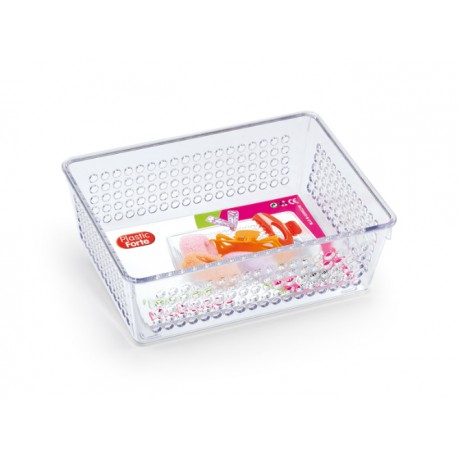 Cestino multiuso in plastica rigida cm.18x13x7