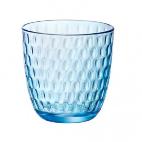 Bicchieri Acqua Slot Lively Blue Bormioli in vetro cl.29 Set 6 bicchieri