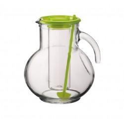 Brocca Kufra in vetro lt.2 tappo verde Bormioli