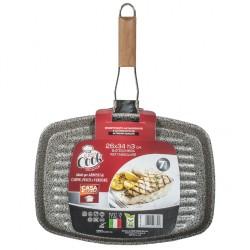 Bistecchiera Easy Cook rivestimento in pietra cm.34x26 h.3 C&K