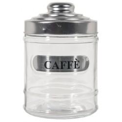 BARATTOLO CAFFE' IN VETRO ANTICA DISPENSA C/TAPPO