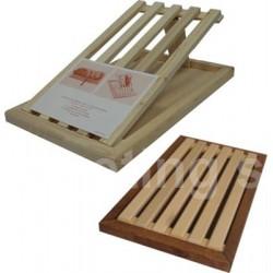 Tagliapane in legno di Faggio con griglia estraibile 38x23 cm.