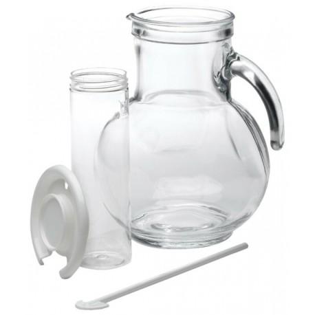Brocca Caraffa Kufra in vetro lt.2 tappo Bianco Bormioli
