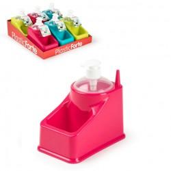 Dosasapone Square con Portaspugne in plastica vari colori