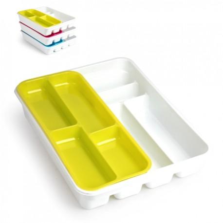 Portaposate Bicolor da cassetto doppio in plastica cm.40x29x7