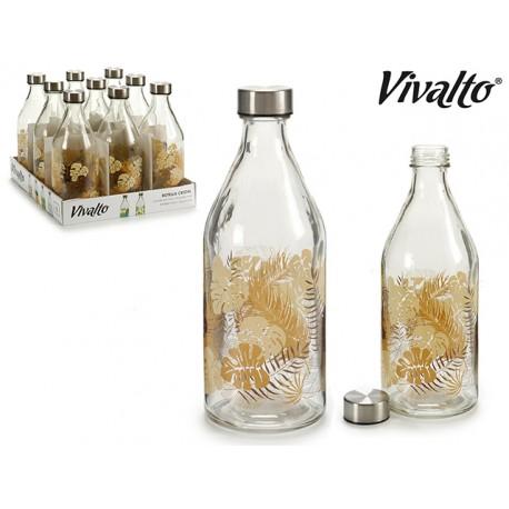 Bottiglia Fiore marrone lt.1 c.tappo inox
