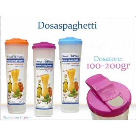 Barattolo Contenitore Spaghetti in plastica con Tappo Dosatore
