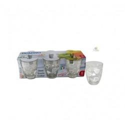 Bicchieri Acqua Cuori in vetro cl.25 Set 6 bicchieri