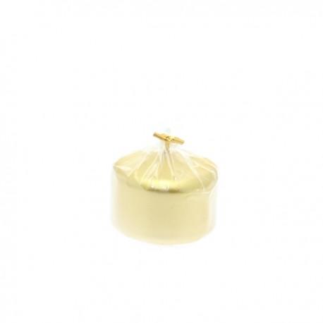 Candela Oro metallizzato cilindro cm.5x7