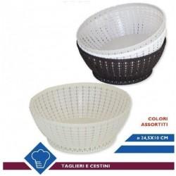 CESTINO PLASTICA RETT. CM.24X10 VARI COLORI