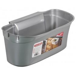 Cestino Raccogli rifiuti Cucina in Plastica grigia cm.17x30x13