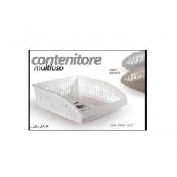 CONTENITORE PER DISPENSA CM.29X26X8 PLASTICA VARI COLORI