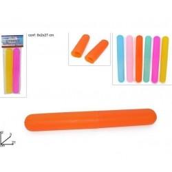 Contenitore Portaspazzolino da denti Set 3 pezzi plastica colori assortiti