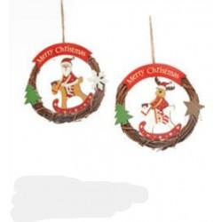 Coroncina di Natale cm.14 soggetti assortiti Maxim Bolzano
