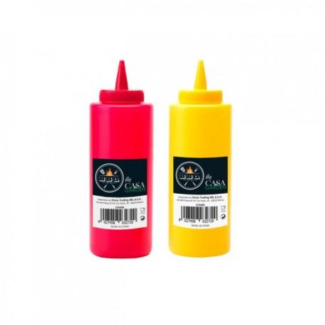 Dispenser ml.500 Bottiglia per Salse Maionese Olio Vari colori