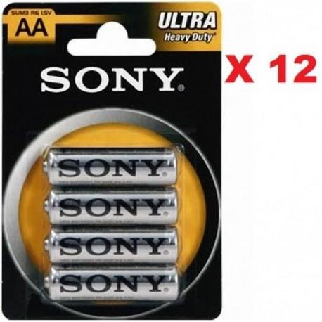Stilo Sony 4 Batterie Pile AA SUM3 R6 Ultra 1.5 V