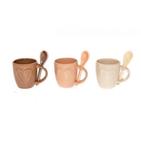 TAZZINA CAFFE' CREAM C/CUCCHIAINO ML.120 ASS