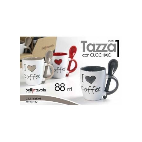 Tazzina da Caffè I Love Coffee senza piattino 88cc. c/cucchiaino