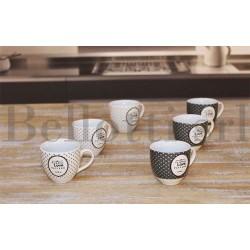 Tazzine da Caffè Love senza piattino 90cc. set 6 tazzine