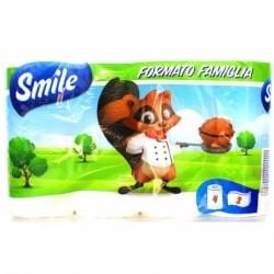 SMILE LUCART CARTA CUCINA ASCIUGATUTTO 4 ROTOLI 2 VELI 100% PURA CELLULOSA