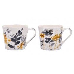 TAZZONE MUG NEW BONE CHINA 400ML ASS C&K