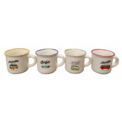 TAZZA CAFFE NEW BONE CHINA 70 ML ASS C&K